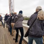 Kleine Kreuzfahrt auf der Elbe mit dem Lotsenschoner Elbe 5, 27. August 2018