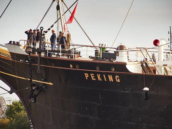 Einlaufparade für die Rückkehr der Peking